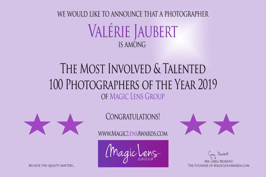 Award 2019 Valérie Jaubert Photographe Mariage Montauban