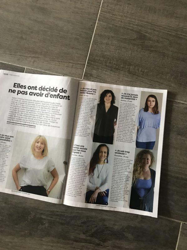 Article de Santé Magazine septembre 2020