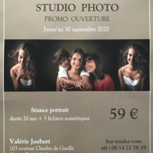 Tarif Promo ouverture studio photo